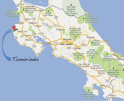 map tamarindo beach costa rica Gone Local Samba To The Sea map tamarindo beach costa rica